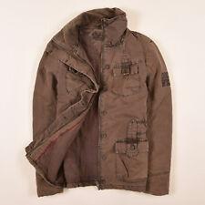 Soccx Damen Jacke Jacket Winterjacke Gr.S (DE 36) Wash-Out-Effect Braun 79043