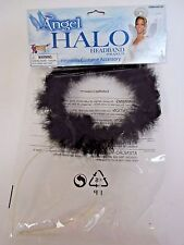 Black Feather Boa Halo Angel Costume Cosplay Halloween Party