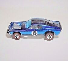 Hot Wheels REDLINE 1971  BLUE BOSS HOSS GORGEOUS OVER CHROME MINT RESTORED!