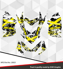 SKI-DOO XP MXZ SNOWMOBILE SLED WRAP GRAPHICS STICKER DECAL KIT 2008-2013 20021