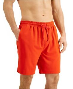 NWT CLUB ROOM Knit Stretch Drawstring Cosmic Orange Pajama Shorts Sz L