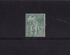 timbre France Colonies Francaises  Dubois   5c  vert  num: 49  obl