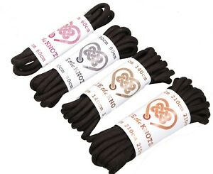 Shoe Laces Round Black All Sizes Lengths For Shoes, Work Boots, Walking Boots