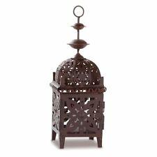 Moroccan Style Brown Metal Candle Lantern