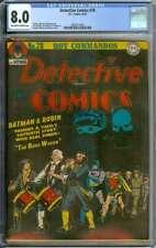 DETECTIVE COMICS #78 CGC 8.0 OW/WH PAGES // GOLDEN AGE BATMAN COVER + STORY