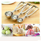New DIY Stainless Steel Ice Cream Mashed Potato Scoops Spoon Spring Handle 5CM