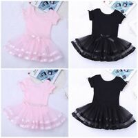 Girl Kid Gymnastic Ballet Leotard Tutu Dress Ballerina Dance Wear Costume Outfit