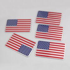New listing 5Pcs Racing Car Truck United State Usa Us Flag Emblem Sticker Decal Badge Decor