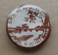 ANTIQUE 'BACK TO NEWSTEAD' 1920s REUNION/CHARITY PIN BADGE MELBOURNE AUSTRALIA