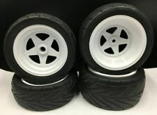 x4 1/10 2WD Buggy Front and Rear wheel rim tire set Rc car For HPI kyosho 30616