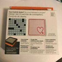 Fiskars Fuse Creativity System Design Set 0079 Medium Die Cut Letterpress Heart