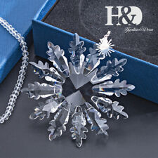 Clear Crystal Large Star Snowflake Holiday Ornaments Annual Christmas Tree Decor