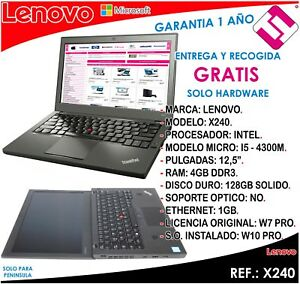 Laptop Computer Lenovo X240 I5 14107 7/12ft 2,6GHZ 4GB RAM 128GB SSD 12,5 (