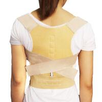 2 X Adjustable Magnet Posture Back Shoulder Corrector Support Brace Belt Therapy