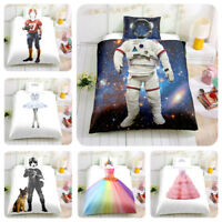 3D Unicorn /Rugby /Princess /Astronaut Kids Bedding Set Duvet Cover Pillow Case