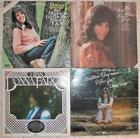 Donna Fargo, 4 Vinyl Record Lot, All LP, 2 US 1st Prs, Happiest Girl Country Pop
