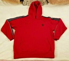 Adidas T Mac Hoodie Mens XL Embroidered Long Sleeve Red