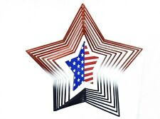 4th of July Hanging 3D Star Spinner, Patriotic Americana Porch Home Decor #L1830