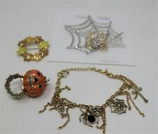 Wholesale Lot 4 Halloween Pins Brooches Ring Pumpkin Spider Bracelet Jewelry