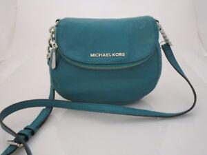 Michael Kors Bedford Nylon Flap Crossbody Bag Green/blue..