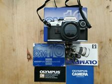 Used Olympus OM10 Film body - BOXED with Manual Adapter fitted.