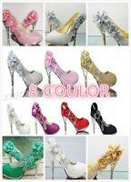 Womens Rhinestone Glitter High Heels Gorgeous Wedding Bridal Party Evening Shoes
