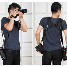 Adjustable Double Dual Shoulder Belt Harness Holder Camera Neck Strap DSLR SLR