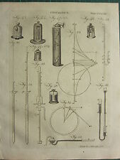1797 GEORGIAN PRINT ~ PNEUMATICS AIR VARIOUS DIAGRAMS EQUIPMENT