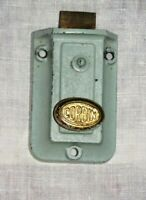 Corbin Door Lock Brass Cast Iron Latch Twist Vintage Surface Mount Teal Hardware