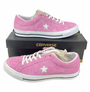 NEW Converse One Star Ox Low Suede Orchid Pink White Shoes Sneakers Mens Size 13