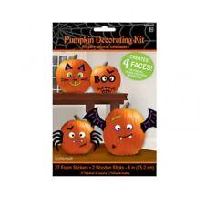 Halloween Party Kürbis Dekoration Set / Kit Aufkleber Bastelbedarf Sticker Deko