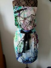 Knee Length Silk Strapless Dresses for Women