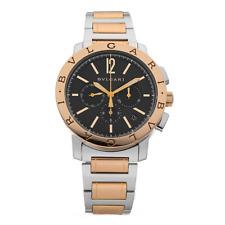 BVLGARI BB 41 SPG CH 18k Rose Gold & Steel Chronograph Automatic Men's Watch
