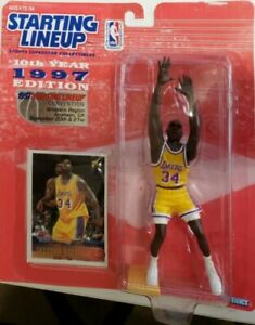 HTF Shaquille O'Neal Los Angeles Lakers 1997 Convention Only Starting Lineup SLU