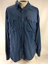 Columbia Blue Titanium Omni-Dry Vented Men's Active Long Sleeve Shirt Size L