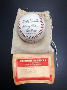 1950s Rawlings Premium Facsimile Baseball Mickey Mantle Original Packaging RARE!