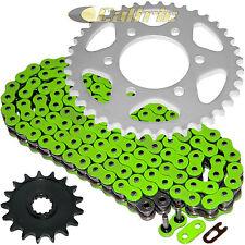 Green O-Ring Drive Chain & Sprockets Kit Fits KAWASAKI ZX1000 Ninja ZX10R