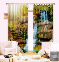 3D Creek Falls Blockout Photo Curtain Printing Curtains Drapes Fabric Window AU
