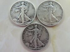 1943 P & D & S  Silver Walking Liberty Half Dollar  three coin set