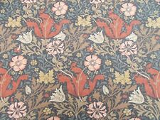 William Morris Curtain Fabric 'COMPTON' 1.5 METRES Terracotta/Multi 100%25 Cotton