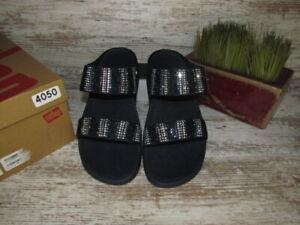 Women's FitFlop Flare Strobe Midnight Navy Slide Sandals Size 8 / 39