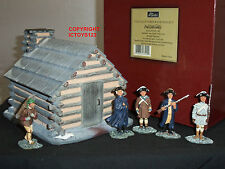 BRITAINS 17421 VALLEY FORGE SCENE WITH HUT METAL TOY SOLDIER FIGURE DIORAMA SET