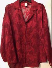 GOLD LABEL VICTORIA'S SECRET PAJAMA SHORTS SHIRT Lace Set Dk Red M EUC