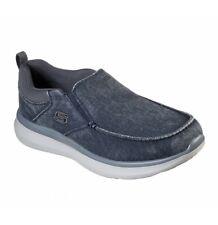 Skechers Delson 2.0 Larwin, Sneaker Infilare Uomo, Blu (Blue Canvas Blu) Memory