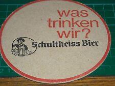 040317 sottobicchiere beer mats birra bierdeckel schultheiss bier