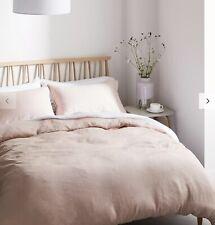 John Lewis & Duvet Cover Set Blush Pink DOUBLE 70% Cotton 30% Linen