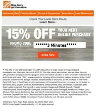 ONE~1X-Home Depot 15% OFF Online Coupon Save up to $200 SENT_FAST__