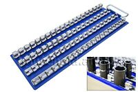 80 Holder Clips 1/4 3/8 1/2 Inch Metal SOCKET RAIL Storage Rack TRAY Organiser