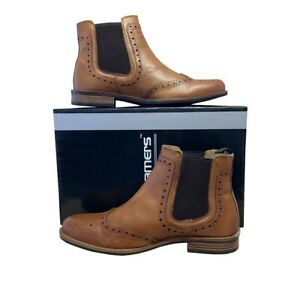 Tan Leather Brogue Chelsea Boot -  Casual / Wedding / Formal / Smart