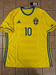 Zlatan Ibrahimović Sweden 16/17 Home Jersey Men's adidas Yellow NWT